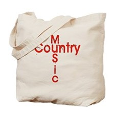 Country Music Cross Tote Bag