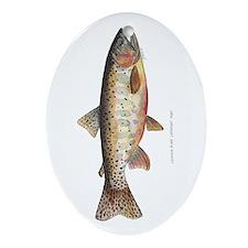 Colorado River Cutthroat Trout Oval Ornament