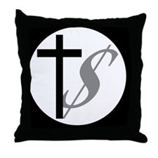 churchmoneybutton Throw Pillow