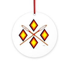 SOUTHEAST TRIBAL STICKBALL Round Ornament