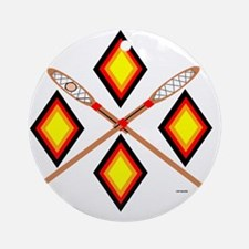 SOUTHEAST TRIBAL STICKBALL Round Ornament
