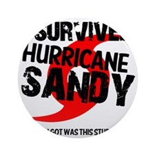 i survived hurricane sandy Round Ornament