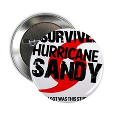 "i survived hurricane sandy 2.25"" Button"