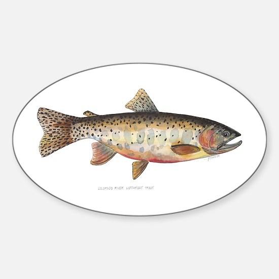 Colorado River Cutthroat Trout Sticker (Oval)