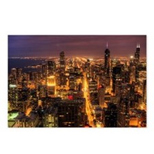 Night cityscape of Chicag Postcards (Package of 8)