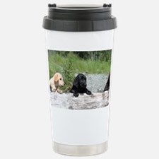 3 Lab pups Stainless Steel Travel Mug