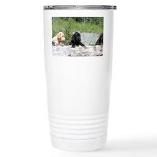 3 Lab pups Travel Mug