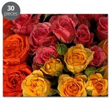Orange, red, and yellow roses Puzzle