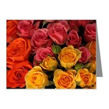 Orange, red, and yellow rose Note Cards (Pk of 10)