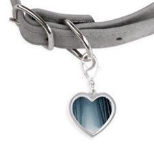 Path leading into mysterious f Small Heart Pet Tag