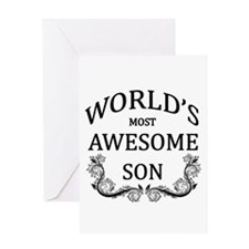 World's Most Awesome Son Greeting Card