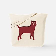 Magenta Cat Tote Bag