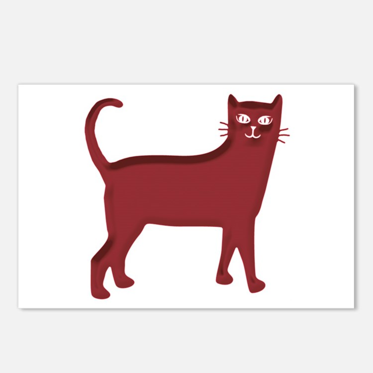 Magenta Cat Postcards (Package of 8)
