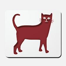 Magenta Cat Mousepad