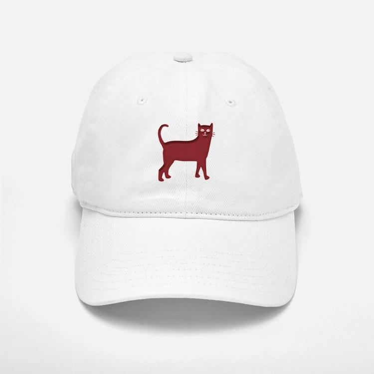 Magenta Cat Baseball Baseball Cap
