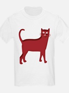 Magenta Cat Kids T-Shirt