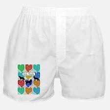 vet tech 2 hearts Boxer Shorts