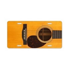 Acoustic Guitar Aluminum License Plate