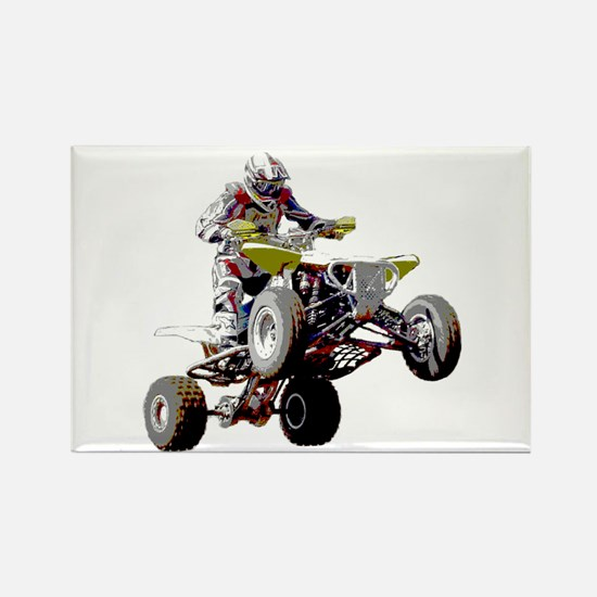 ATV Racing (color) Rectangle Magnet