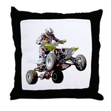ATV Racing (color) Throw Pillow