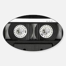 Retro, Mixtape Sticker (Oval)