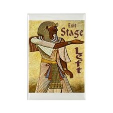 Exit Stage Left Egyptian Rectangle Magnet