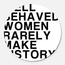 Women, Make History Round Car Magnet