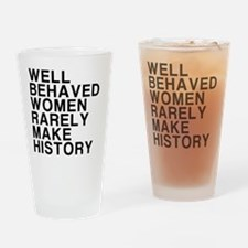 Women, Make History Drinking Glass