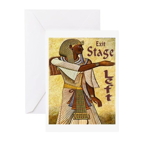 Exit Stage Left Egyptian Greeting Cards (Package o
