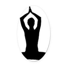 Yoga Oval Car Magnet