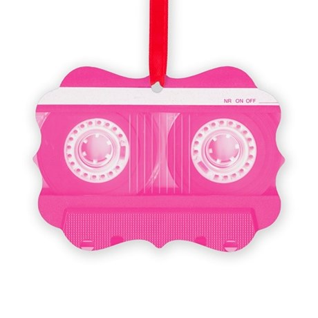 Pink Cassette Picture Ornament