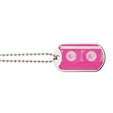 Pink Cassette Dog Tags