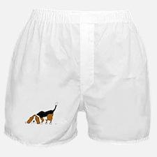 Sniffing Hunting Beagle Boxer Shorts
