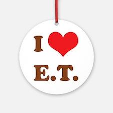 I Love E.T. Round Ornament