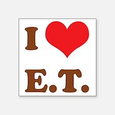 """I Love E.T. Square Sticker 3"""" x 3"""""""