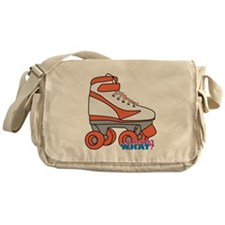 Roller Derby Skate Orange Messenger Bag