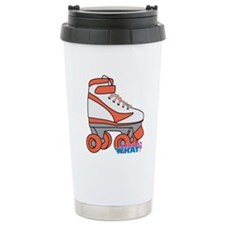 Roller Derby Skate Orange Travel Mug