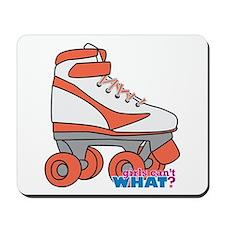 Roller Derby Skate Orange Mousepad