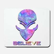 Pastel Believe Alien Mousepad