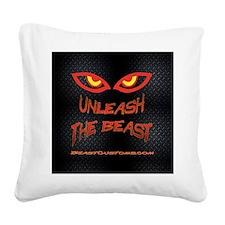 UnleashBlackDiamond Square Canvas Pillow