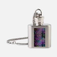 Disco Mirrors in Purple and Green Flask Necklace