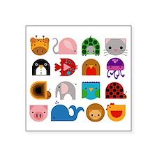 """all animals Square Sticker 3"""" x 3"""""""