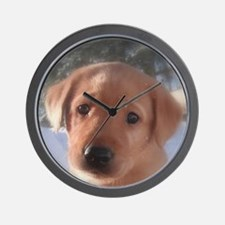 Yellow Lab puppy Wall Clock