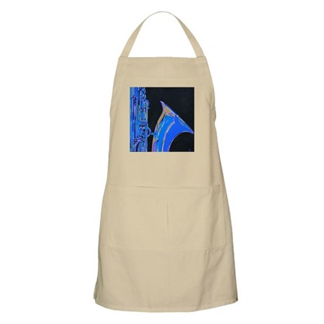 Saxophone Blues Art BBQ Apron