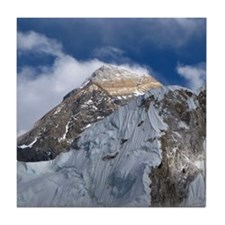 Mount Everest from part way up Kala P Tile Coaster