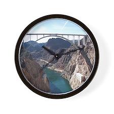 View of bridge behind Hoover Dam. Wall Clock