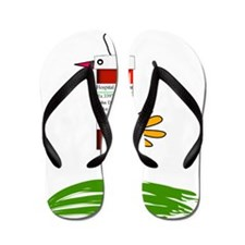 PHARMACIST BIRD NO BACK bigger Flip Flops