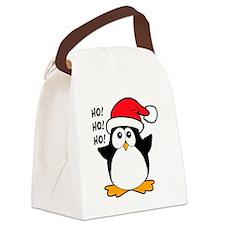Cute Christmas Penguin Canvas Lunch Bag
