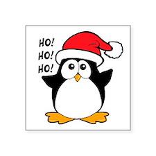 "Cute Christmas Penguin Square Sticker 3"" x 3"""