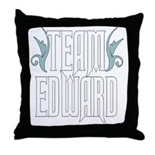 Team Edward Throw Pillow